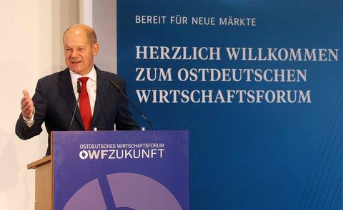 Olaf Scholz beim Ostdeutschen Wirtschaftsforum