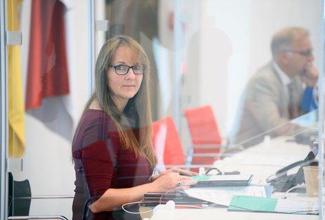 Katrin Lange (SPD) im Brandenburger Landtag